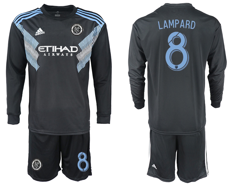 2018-2019 Club Men New York City away long sleeve 8 soccer jersey