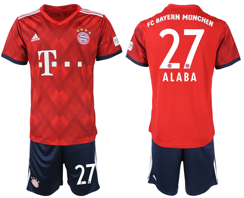 2018-2019 Men club Bayern Munich home 27 soccer jersey