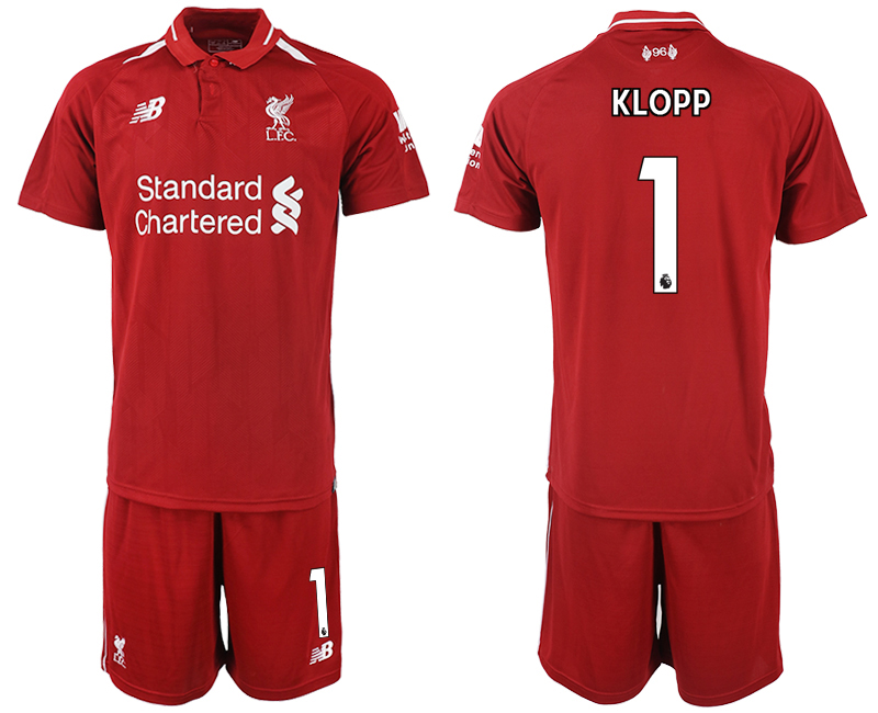 2018-2019 Men club Liverpool home 1 soccer jersey