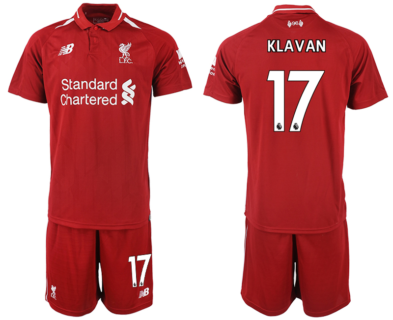 2018-2019 Men club Liverpool home 17 soccer jersey