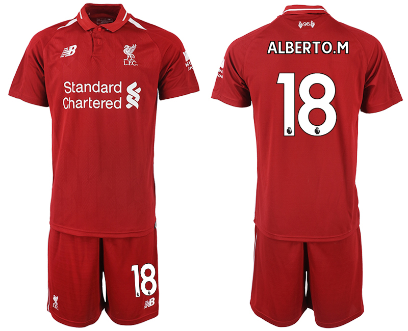 2018-2019 Men club Liverpool home 18 soccer jersey
