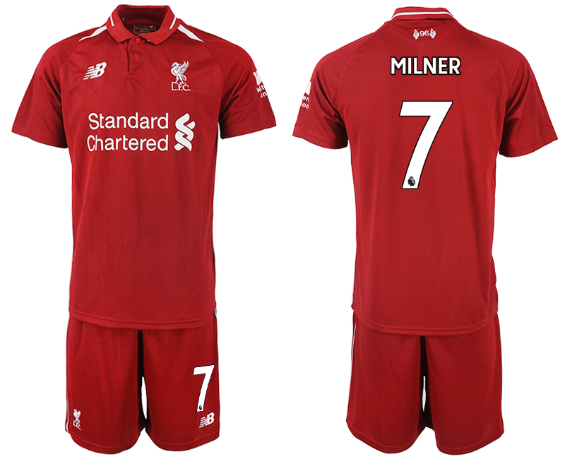 2018-2019 Men club Liverpool home 7 soccer jersey