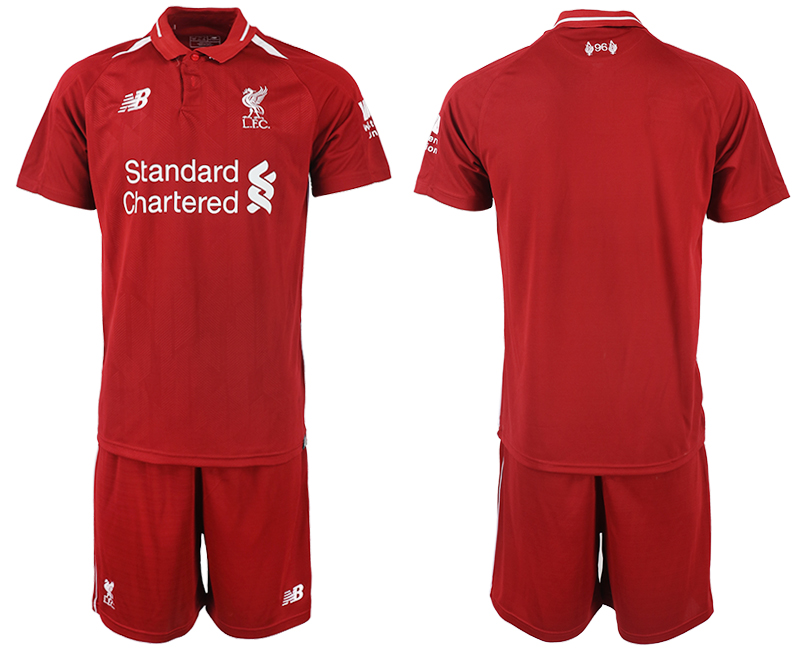 2018-2019 Men club Liverpool home soccer jersey