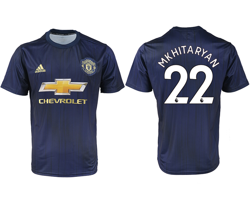 2018-2019 Men club Manchester united away aaa version 22 soccer jersey