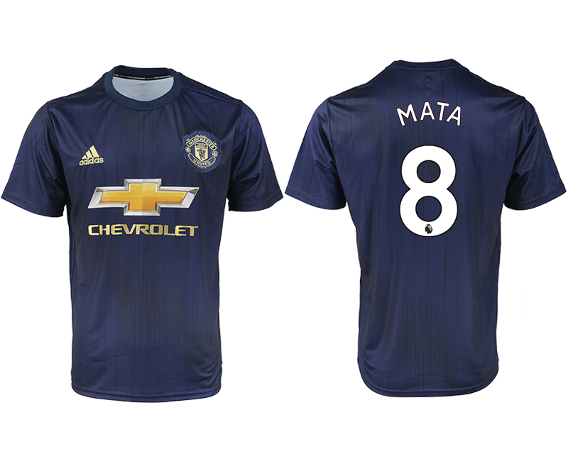 2018-2019 Men club Manchester united away aaa version 8 soccer jersey