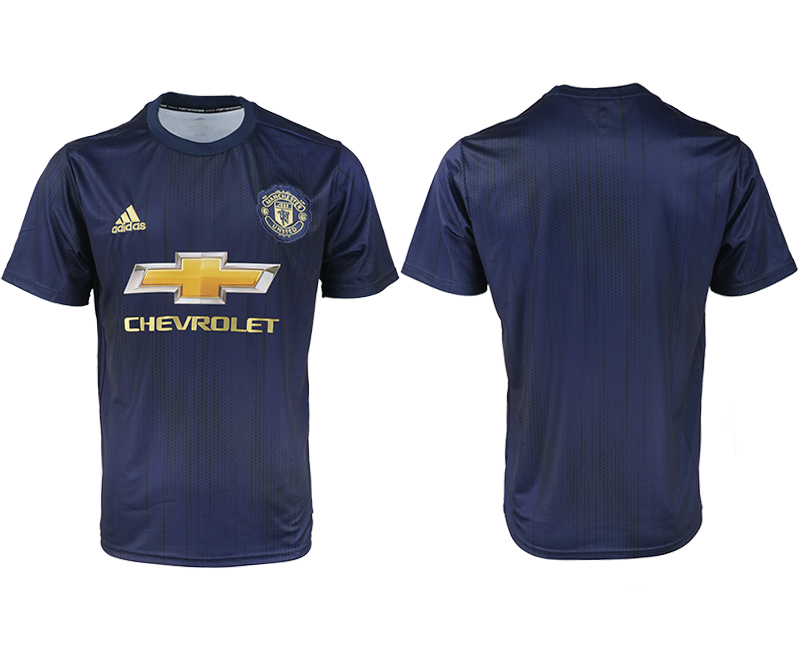 2018-2019 Men club Manchester united away aaa version soccer jersey