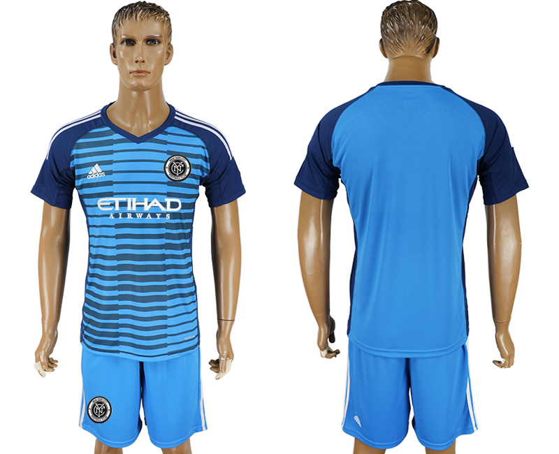 2018-2019 Men club New York City Lake blue goalkeeper soccer jersey