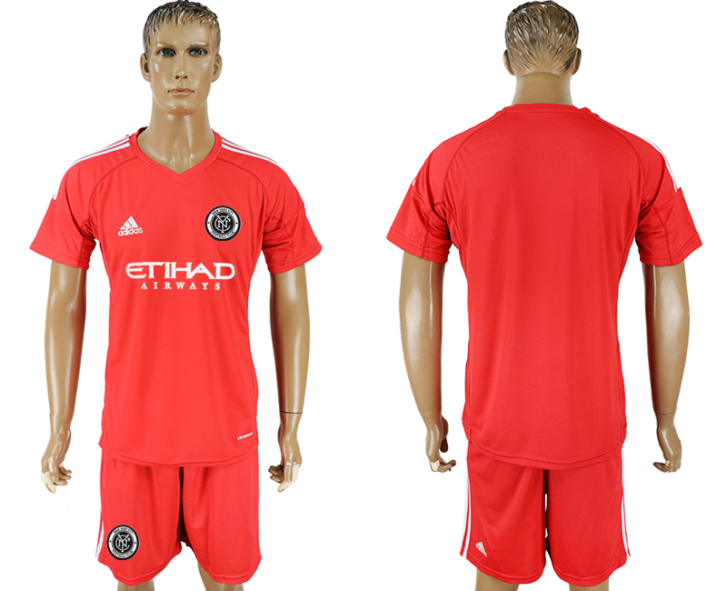 2018-2019 Men club New York City red goalkeeper soccer jersey