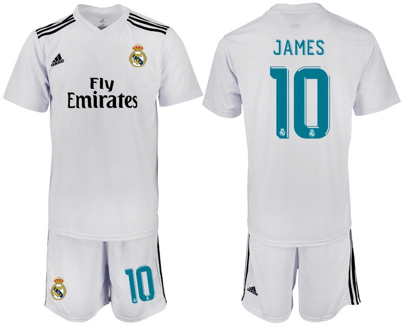 2018-2019 Men club Real Madrid home 10 soccer jersey