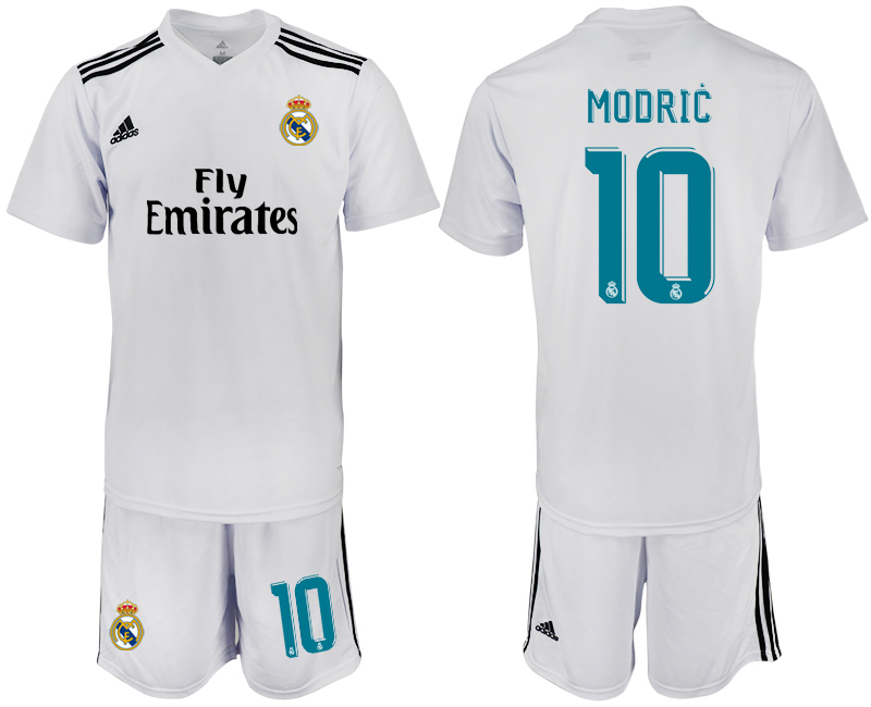 2018-2019 Men club Real Madrid home 10 white soccer jersey