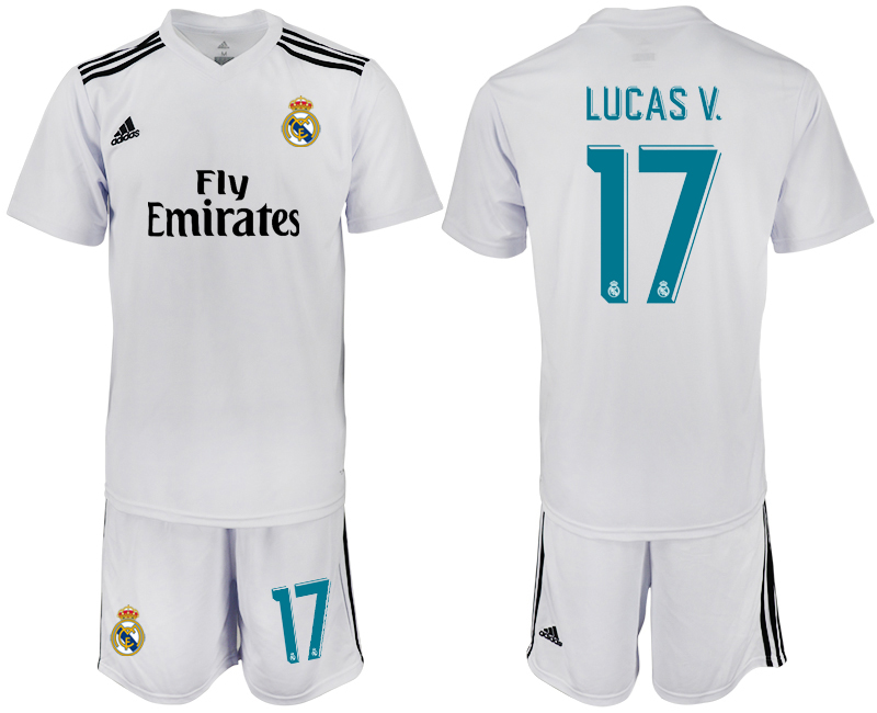 2018-2019 Men club Real Madrid home 17 soccer jersey