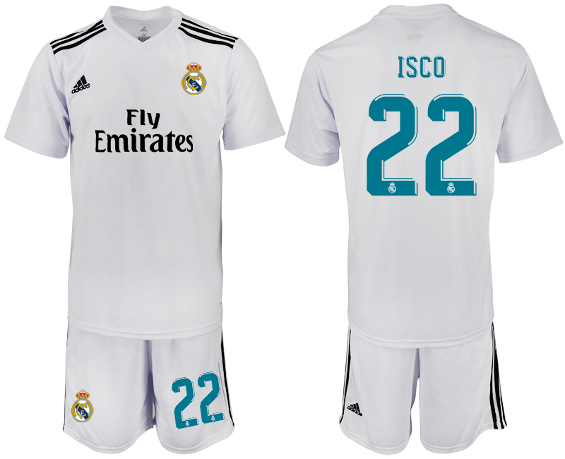 2018-2019 Men club Real Madrid home 22 soccer jersey