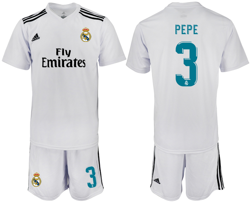 2018-2019 Men club Real Madrid home 3 soccer jersey