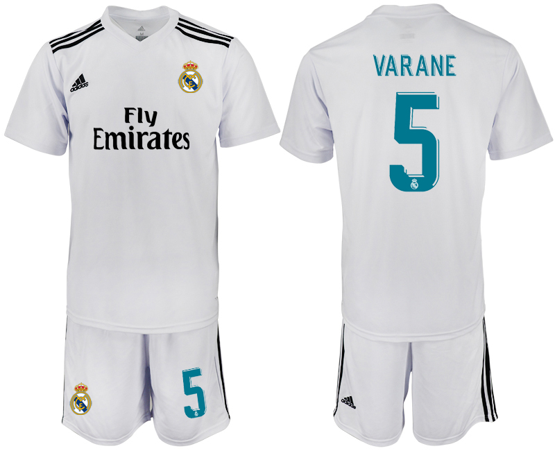 2018-2019 Men club Real Madrid home 5 soccer jersey