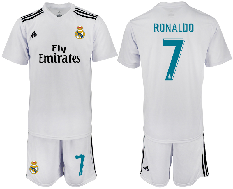2018-2019 Men club Real Madrid home 7 soccer jersey