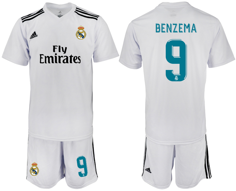 2018-2019 Men club Real Madrid home 9 soccer jersey