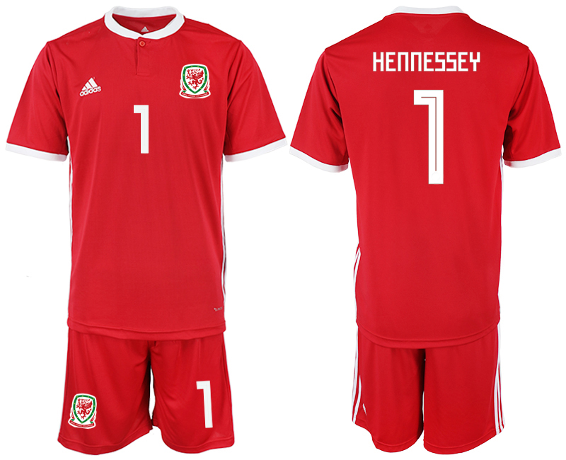 2018-2019 Men nationa Welsh home 1 soccer jersey