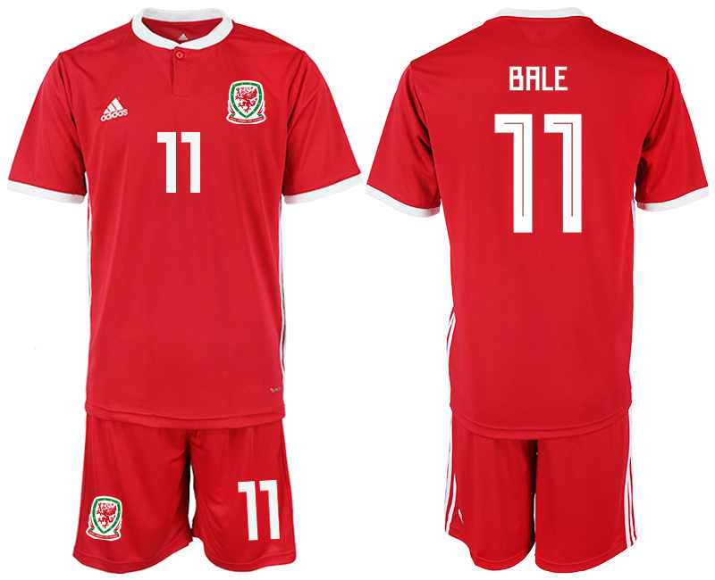 2018-2019 Men nationa Welsh home 11 red soccer jersey