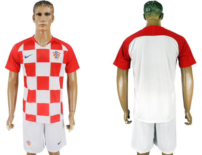 Men 2018 World Cup Croatia home white soccer jersey1