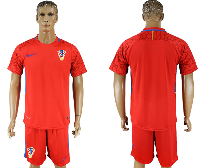 Men 2018 World Cup Croatia red goalkeeper soccer jersey