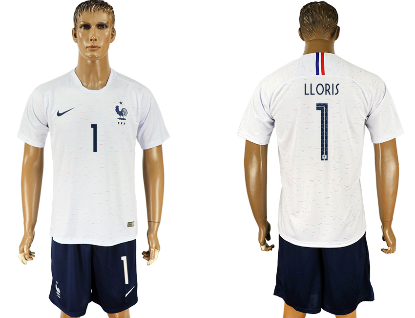 Men 2018 World Cup France away 1 white soccer jersey