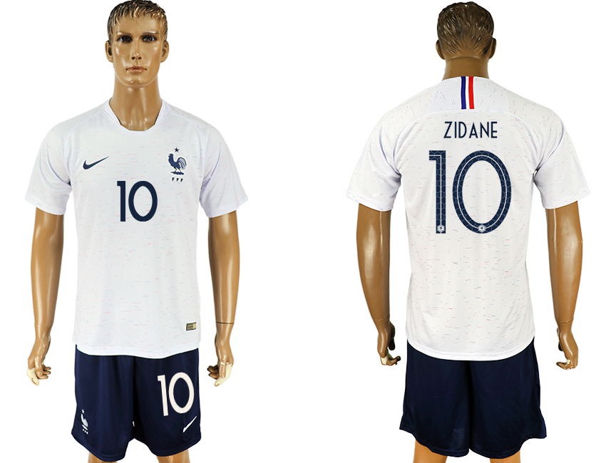 Men 2018 World Cup France away 10 white soccer jersey