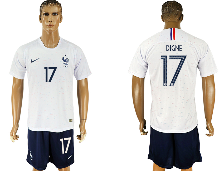 Men 2018 World Cup France away 17 white soccer jersey