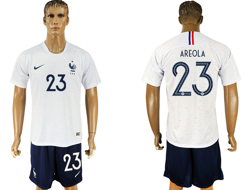 Men 2018 World Cup France away 23 white soccer jersey