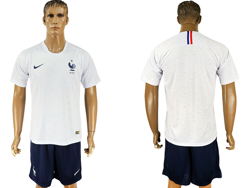 Men 2018 World Cup France away white soccer jersey1