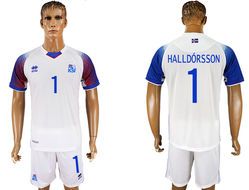 Men 2018 World Cup Iceland away 1 white soccer jersey