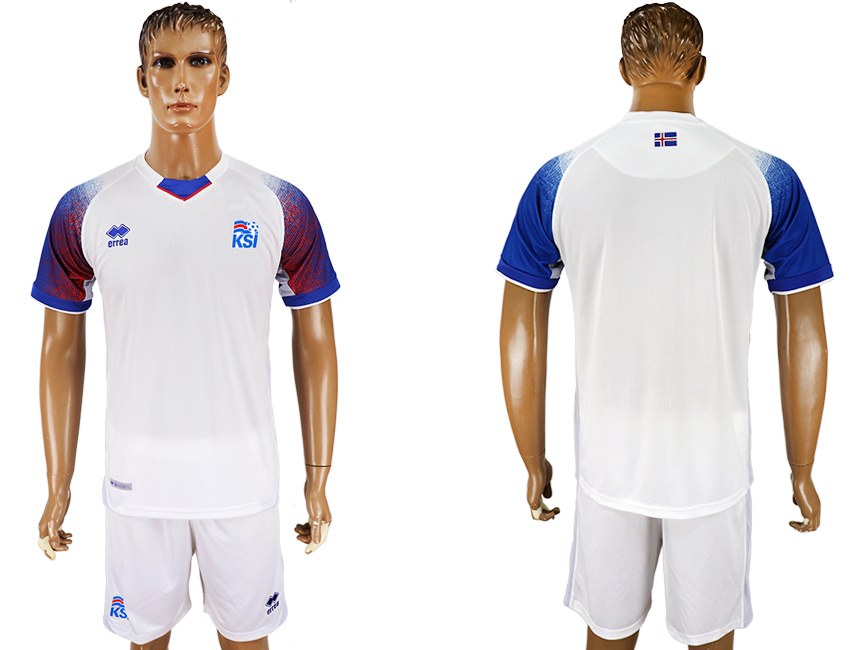Men 2018 World Cup Iceland away white soccer jersey1