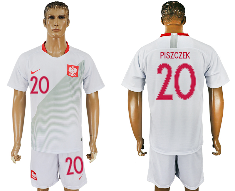 Men 2018 World Cup Poland home 20 white soccer jersey
