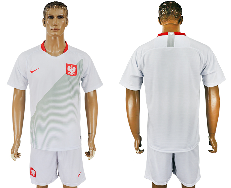 Men 2018 World Cup Poland home white soccer jersey1