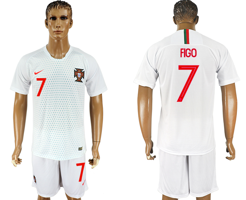 Men 2018 World Cup Portugal away 7 white soccer jersey1