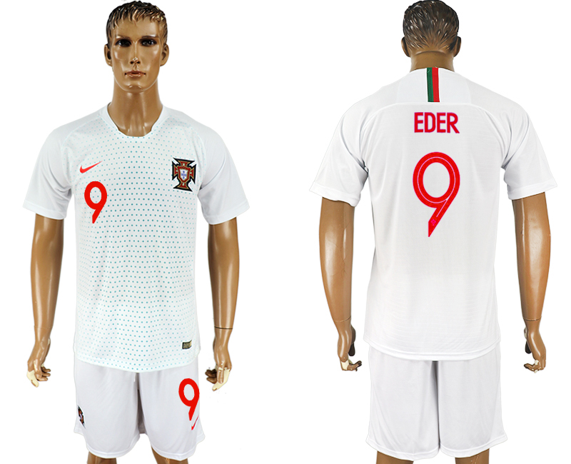 Men 2018 World Cup Portugal away 9 white soccer jersey1