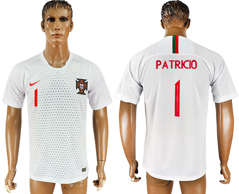 Men 2018 World Cup Portugal away aaa version 1 white soccer jersey