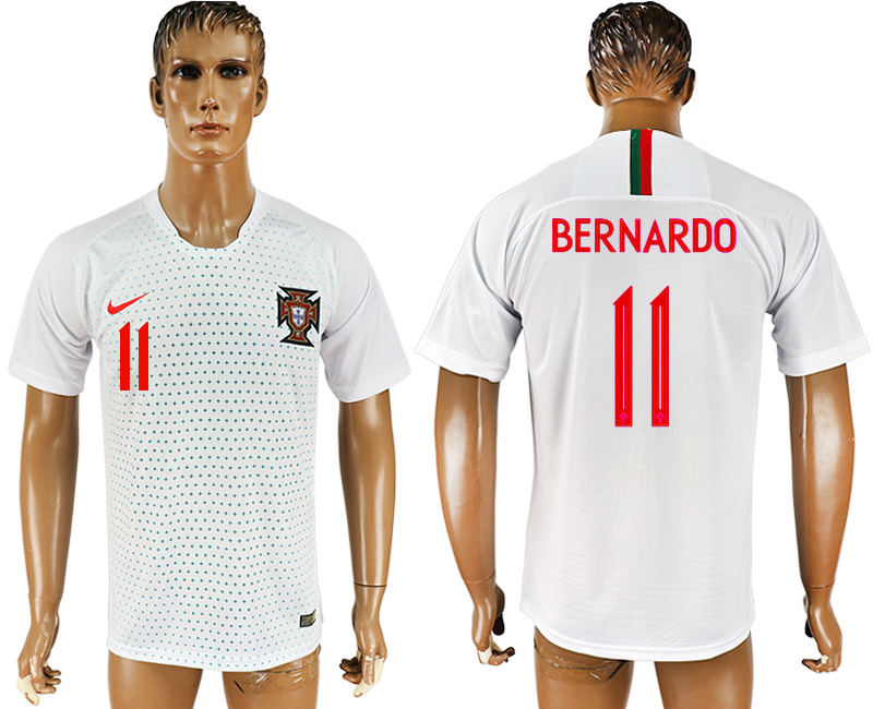 Men 2018 World Cup Portugal away aaa version 11 white soccer jersey