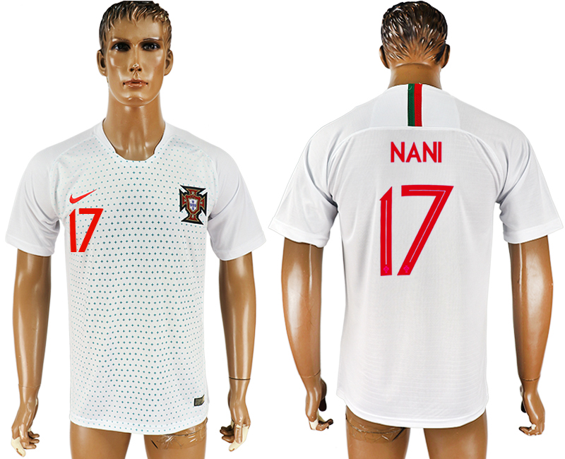 Men 2018 World Cup Portugal away aaa version 17 white soccer jersey