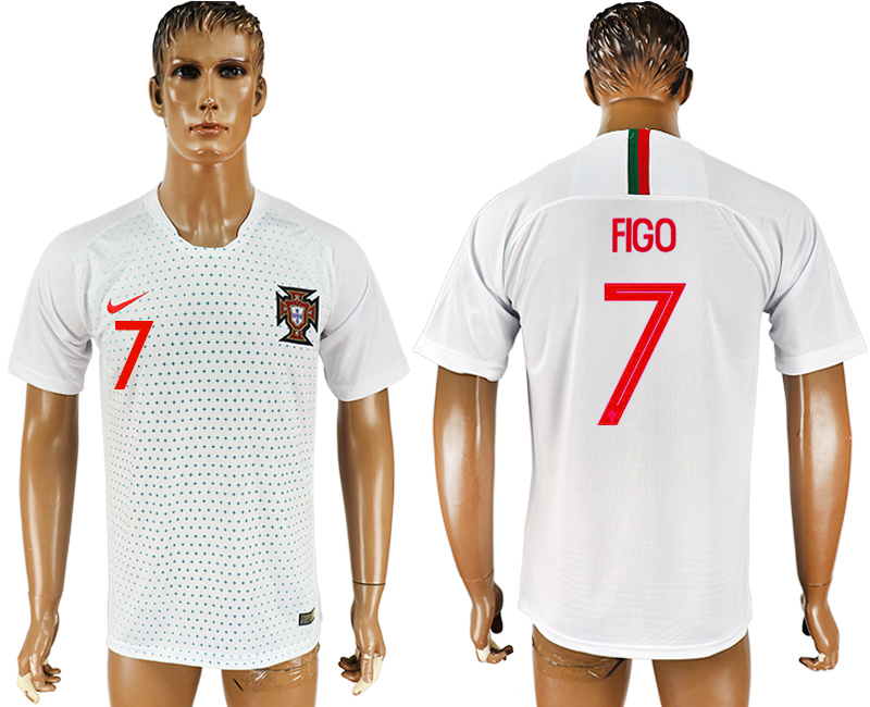 Men 2018 World Cup Portugal away aaa version 7 white soccer jersey