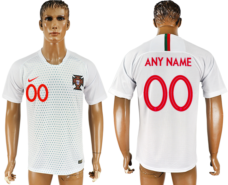Men 2018 World Cup Portugal away aaa version customized white soccer jersey