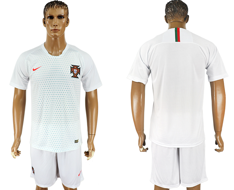 Men 2018 World Cup Portugal away white soccer jersey