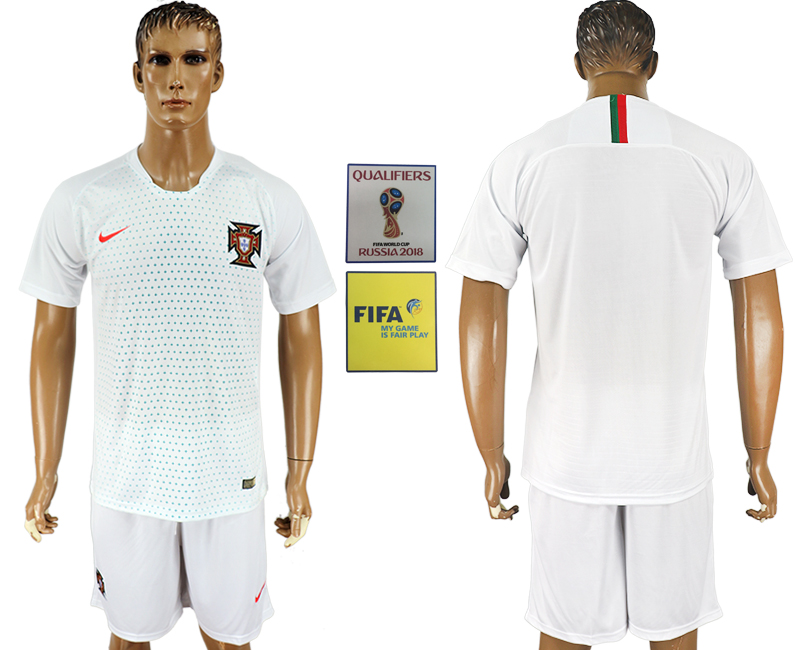 Men 2018 World Cup Portugal away white soccer jersey1