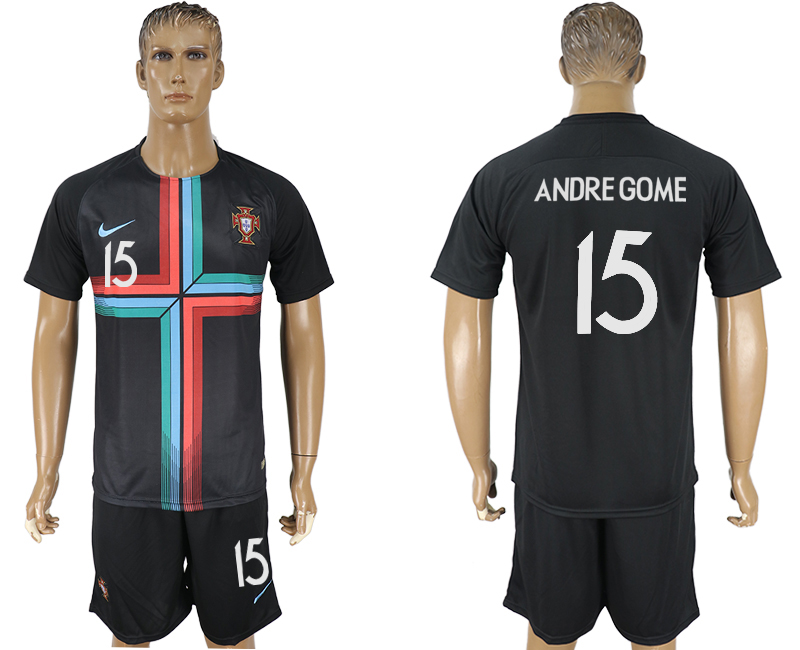 Men 2018 World Cup Portuguese black training suit 15 soccer jersey