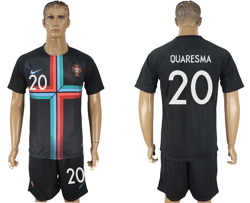 Men 2018 World Cup Portuguese black training suit 20 soccer jersey