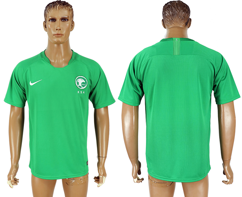 Men 2018 World Cup Saudi Arabia away aaa version green soccer jersey