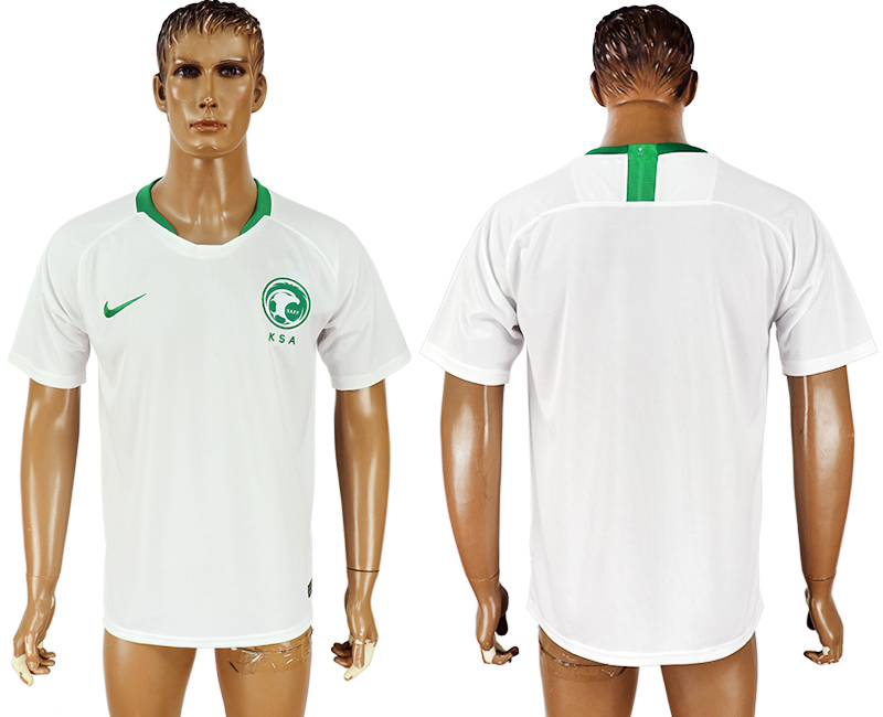 Men 2018 World Cup Saudi Arabia home aaa version white soccer jersey