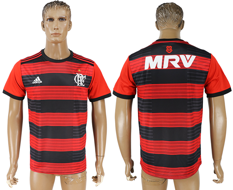 Men 2018-2019 club Flamengo home aaa version blank red soccer jersey