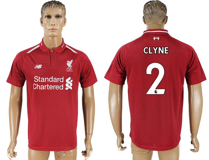 Men 2018-2019 club Liverpool home aaa version 2 red soccer jersey