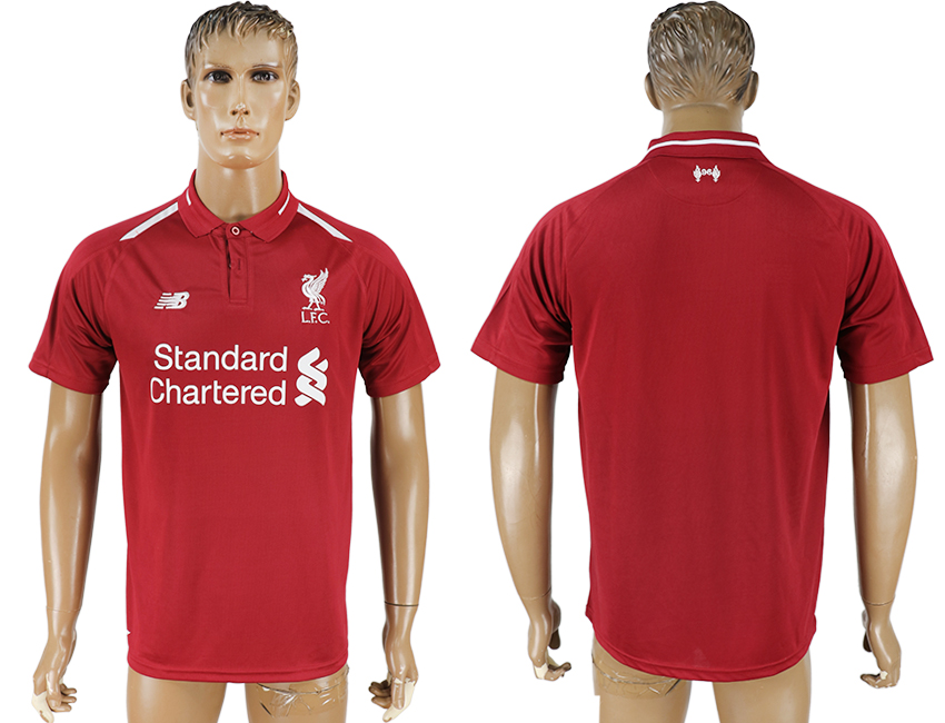 Men 2018-2019 club Liverpool home aaa version red soccer jersey