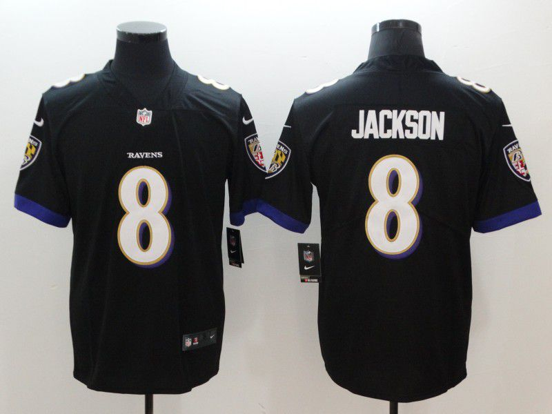 Men Baltimore Ravens 8 Jackson Black Nike Vapor Untouchable Limited NFL Jerseys